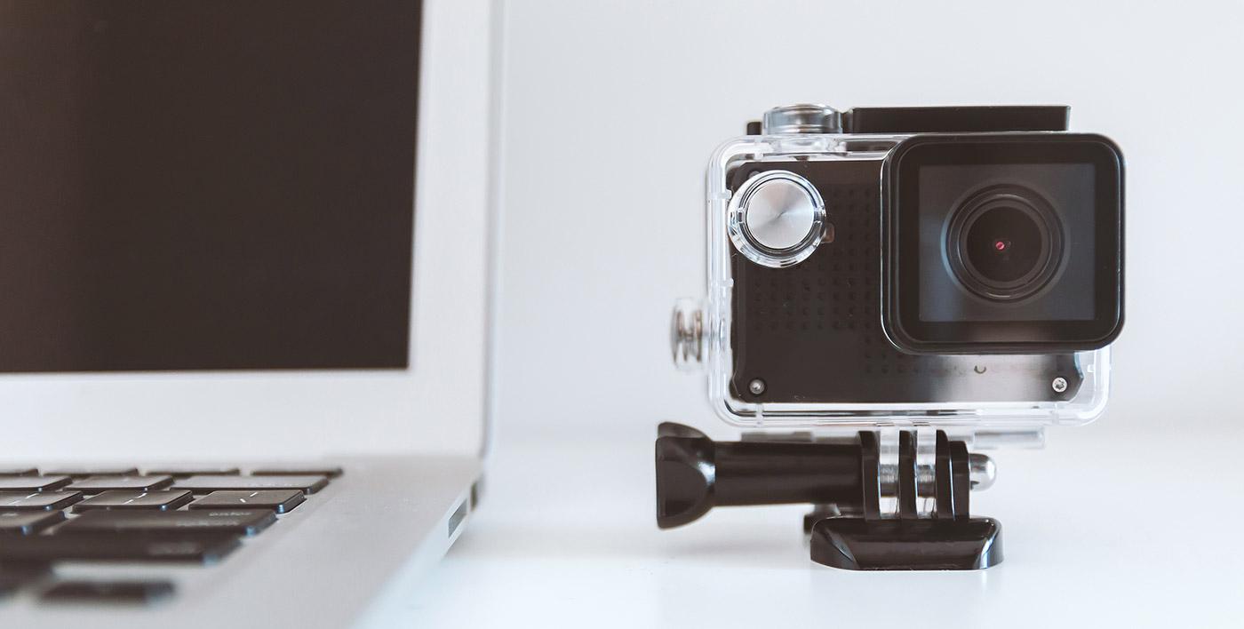 camera near laptop