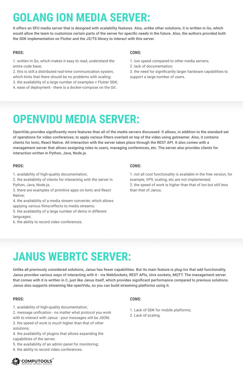 servers comparison image